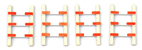 Fences for Grade Crossings (4 pieces)