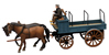 Open Farmers Wagon w. 2 Horses and 1 Driver