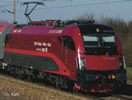 Austrian Electric Locomotive Rh 1216 Rail Cargo Carrier of the OBB