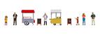 Figure Set: Ice Cream and Hotdog Cart