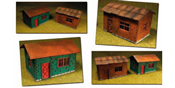 Laser-Cut Cottages Kit (2 cottages) HO/OO