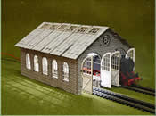 HO-OO Double Engine Loco Shed Laser-Cut Kit