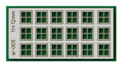 18 pcs 11X12mm 4 Pane Laser-Cut Windows HO/OO