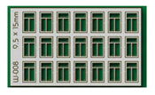 21 pcs 9.5X15mm 3 Pane Windows HO/OO