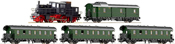 Set Steam rail car series 71.5 of the DRB w/passenger train