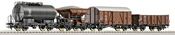 4-piece set freight cars