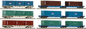 Dealer Set of 12 Container Cars