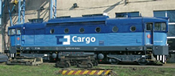 Diesel locomotive Rh 750, blue/grey, snd