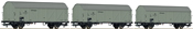 3-piece set: Refrigerator wagons, DRG