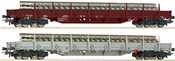 2-piece set stake wagons, SBB
