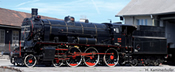 Museum steam locomotive 03 002 of the SŽ w/sound